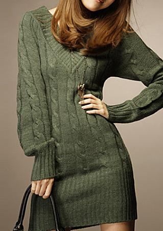 Pulover lung de damă, elegant, confortabil, cu mâneci lungi și guler în V
