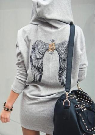 One Size Casual Wing Hoodies