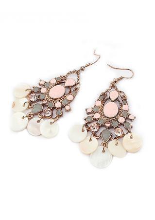 Dangle Chandelier Shell Hook Earrings