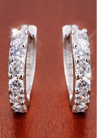 Sterling Silver Rhinestone Earring