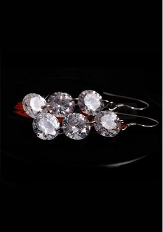 Bridal Crystal 925 Sterling Silver Earrings