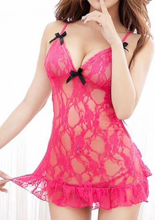 One Size Lace G-string Sleepwear