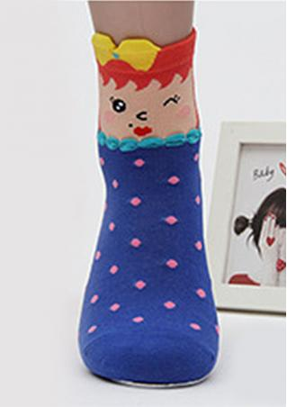Bowknot Candy Colored Cotton Socks Bowknot