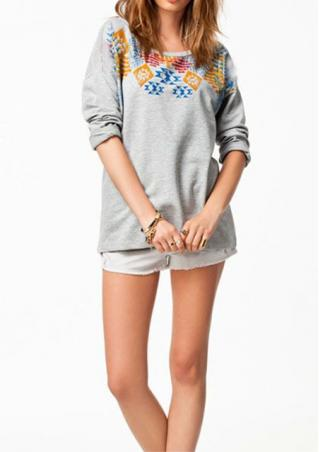 Loose Long Sleeves Sweatshirt
