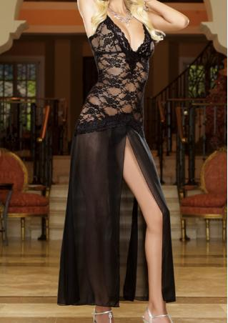 One Size Lace Hollow-Out Sleepwear