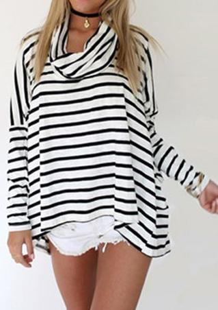 One Size Loose Striped Blouse