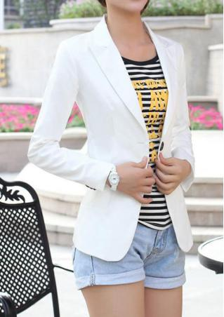 Slim Solid Blazer