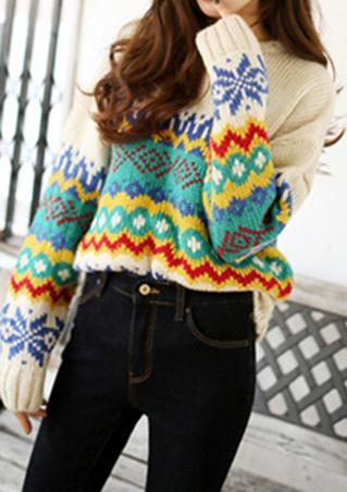 Pulover de damă, elegant, tricotat, călduros, din poliester, cu mâneci lungi