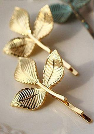 Gold Leaf Hairclip