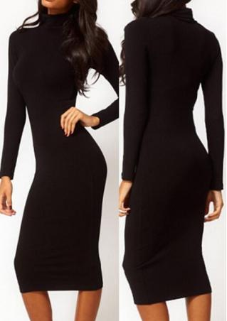 Turtle Neck Knit Maxi Dress