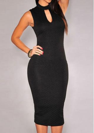 One Size Turtleneck Backless Bodycon Dress