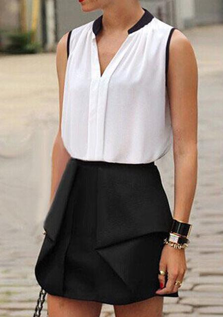 Bluză de damă, fashion, din poliester, cu dungi de contrast și guler în v
