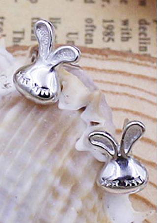 925 Sterling Silver Rabbit Bunny Earrings