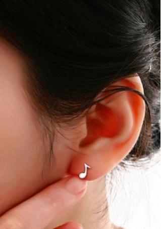 925 Sterling Silver Musical Earrings