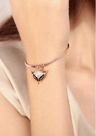 Rhinestone Fox Bracelet