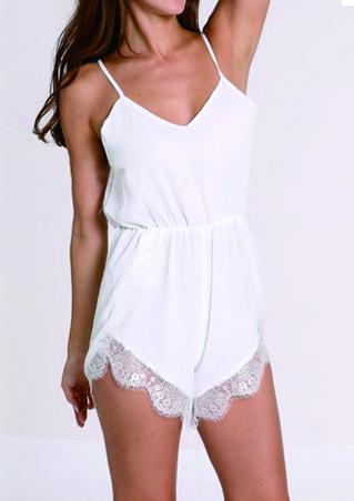 Lace Double Strap Romper