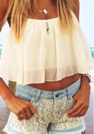 Chiffon Backless Crop Top