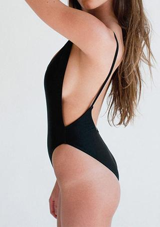 Backless Padded Swimsuit Backless