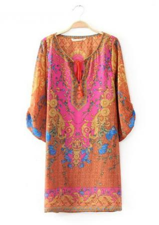 Loose Fitting Chiffon Casual Dress