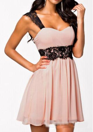 Backless Chiffon Mini Dress