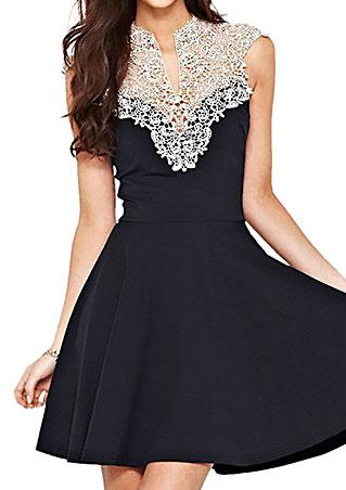 Sleeveless Lace A-Line Party Dress