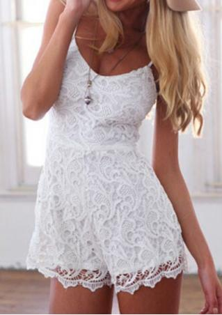 Sleeveless Lace Romper