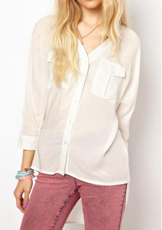 Loose Fitting Chiffon Shirt