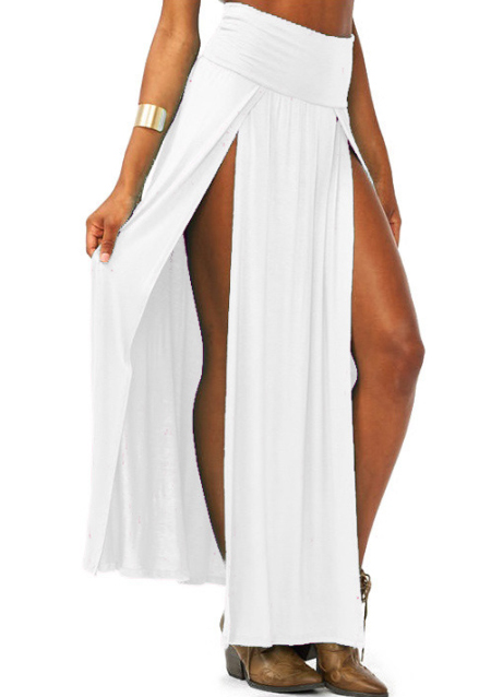 one size high waist split maxi skirt fairyseason