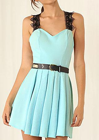 Strap Backless A-Line Dress
