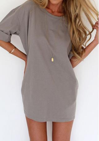 Solid Casual Mini Dress