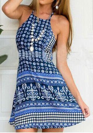 Flora Backlessl Mini Dress