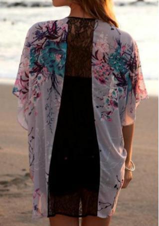 One Size Lace Chiffon Kimono