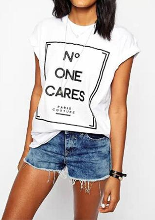 Loose Short Sleeve Letter T-Shirt