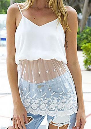 Strap Lace Tank