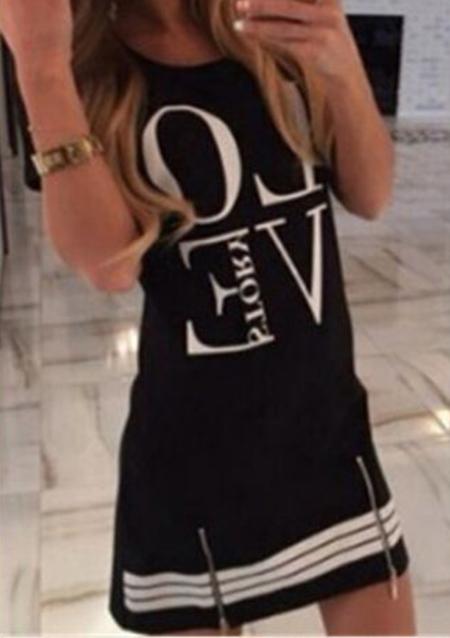 Rochie scurtă, fashion, slim fit, cu mâneci scurte și imprimeu grafic