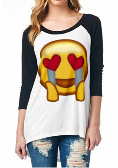 Tricou de damă, fashion, din poliester, cu imprimeu frontal