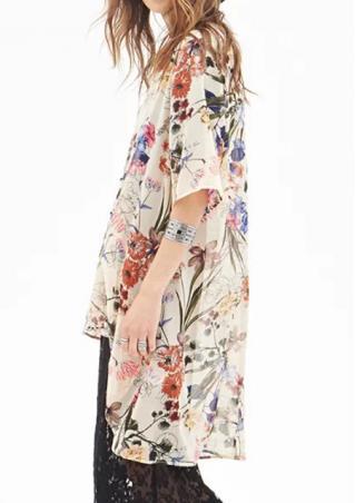 Floral Print Kimono Cardiagn
