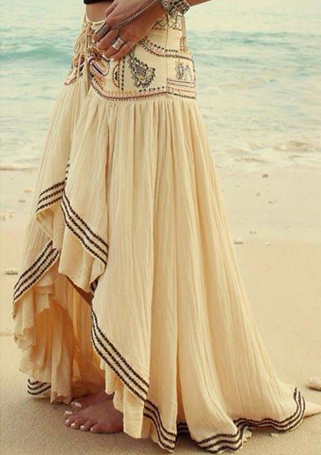 Fustă lungă, fashion, plisată, cu imprimeu floral și tiv asimetric