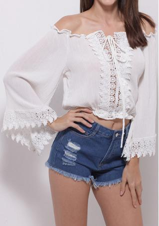 Lace Off Shoulder Blouse