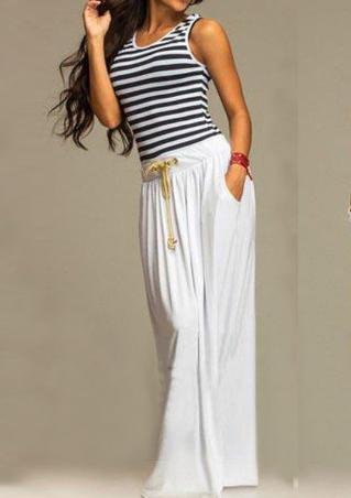Low Back Striped Maxi Dress
