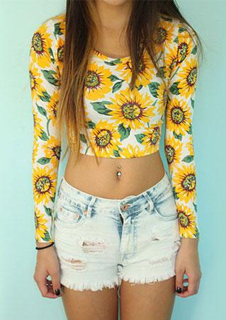 Bluză de damă, fashion, slim fit, din poliester, cu imprimeu floral și mâneci lungi
