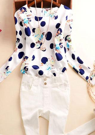 Tricou de damă, fashion, slim fit, din poliester, cu imprimeu floral