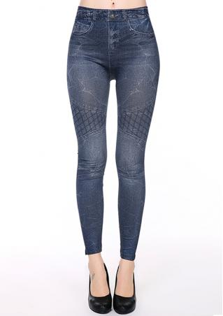 One Size Lattice High Waist Skinny Pants Brandless