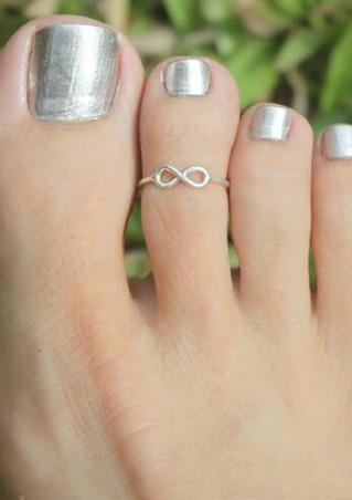 Adjustable Silver Toe Ring Adjustable