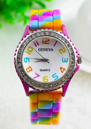 Silicone Crystal Diamante Jelly Strap Watch