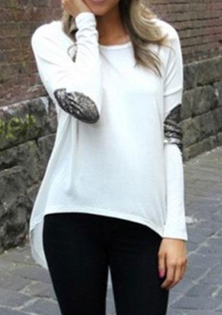 Bluză de damă, asimetrică, largă, fashion, cu mâneci lungi