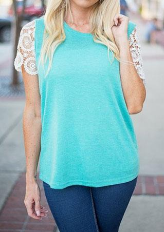 Lace Crewneck Blouse
