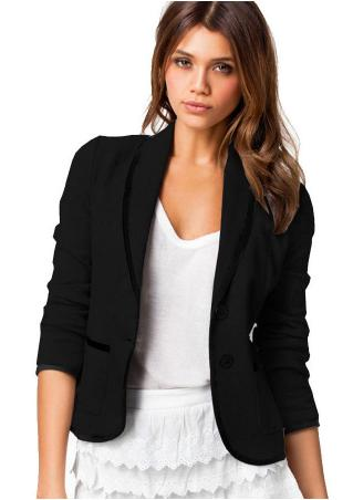 Color Splicing Long Sleeve Blazer