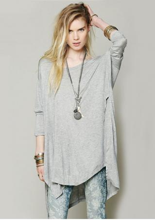 Long Sleeve Asymmetric Blouse