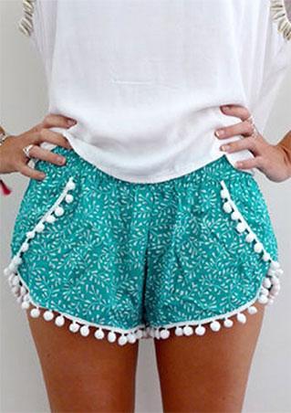 Tassle Floral Print Shorts
